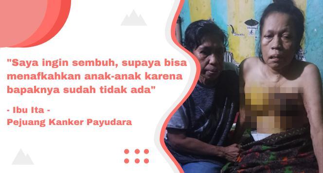 Gambar banner Bantu Ibu Ita Berjuang Melawan Kanker Payudara