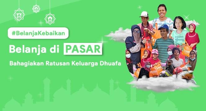 Banner program Belanja Kebaikan Sembako Ramadan untuk Keluarga Dhuafa Pelosok Desa