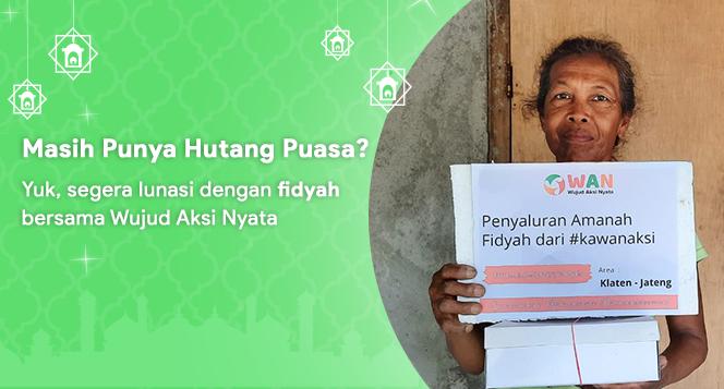 Banner program Salurkan Fidyahmu pada Masyarakat Dhuafa