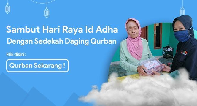 Gambar banner Aksi Sedekah Daging Qurban Bagi Warga Pelosok Desa