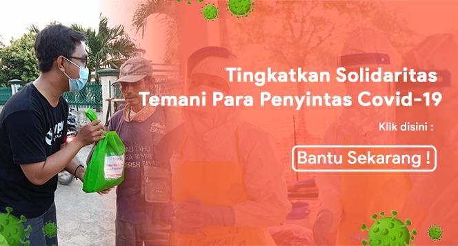 Banner program Kirim Bantuan Makanan Bergizi untuk Penyintas Covid-19