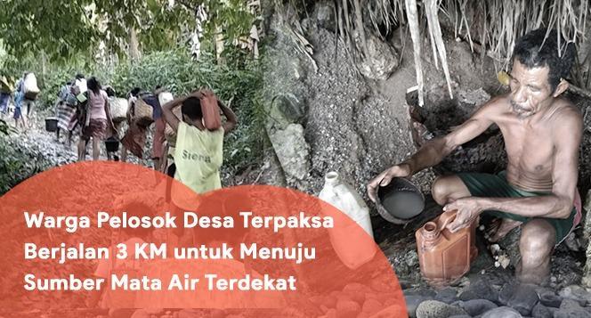 Banner program Aksi Sedekah Air Bantu Warga Pelosok Desa Dapatkan Air Bersih