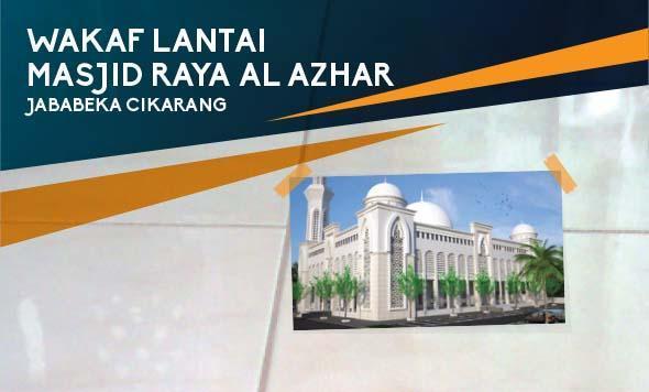 Gambar banner WAKAF LANTAI UNTUK MASJID RAYA AL AZHAR CIKARANG..