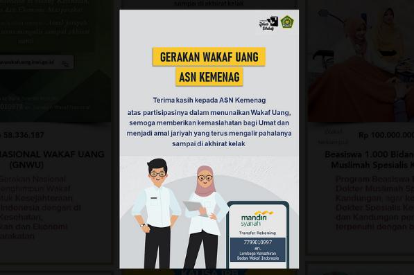 Banner program ASN Kemenag Berwakaf