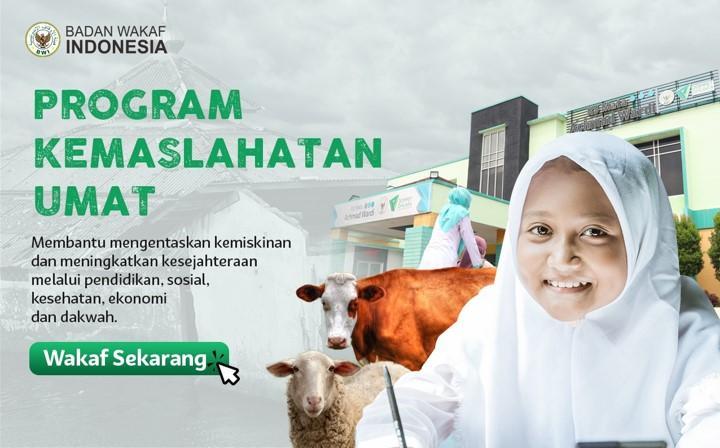 Banner program Wakaf Produktif untuk Program Kemaslahatan Umat