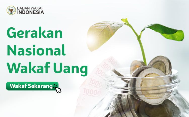 Banner program Gerakan Nasional Wakaf Uang