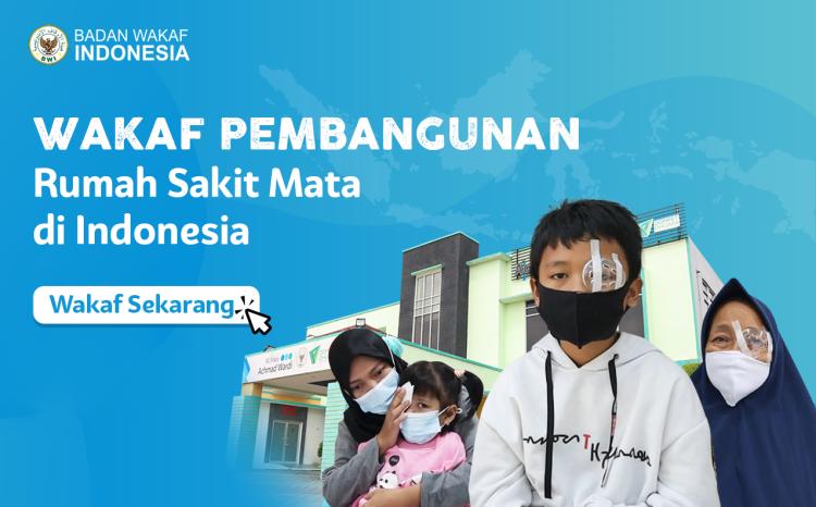 Banner program Wakaf Pembangunan Rumah Sakit Mata Seluruh Indonesia