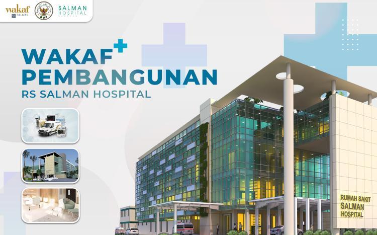 Banner program WAKAF PEMBANGUNAN RS SALMAN HOSPITAL