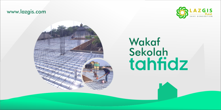 Banner program Ayo Wakaf Sekolah Tahfidz