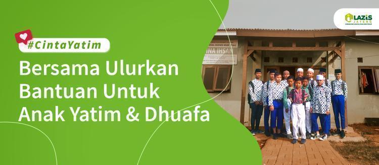 Banner program Bersama ulurkan Bantuan untuk Anak Yatim dan Dhuafa