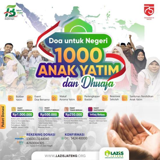 Gambar banner Doa Untuk Negeri Bersama 1000 Anak Yatim dan Dhuafa