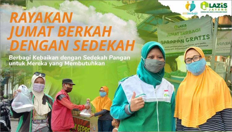Banner program Sinergi Kebaikan bersama LAZiS Jateng dalam Jumat Berbagi