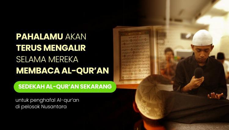 Banner program Sedekah Al Quran ke Pelosok Nusantara