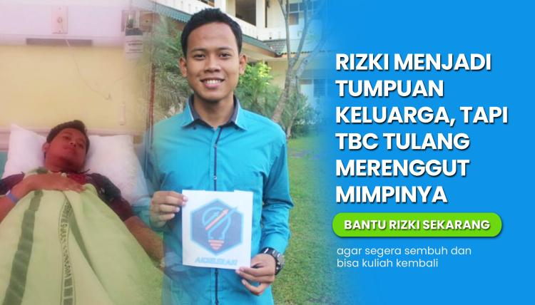 Banner program Bantu Biaya Operasi TBC Tulang Rizki