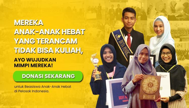 Banner program Beasiswa untuk Anak-Anak Hebat di Pelosok Indonesia