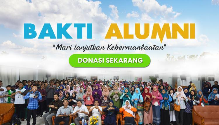 Banner program Donasi Alumni Melanjutkan Kebermanfatan