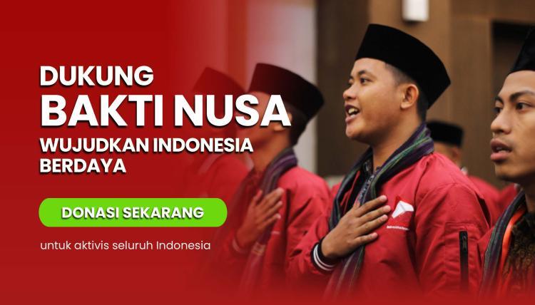 Banner program Dukung BAKTI NUSA Mewujudkan Indonesia Berdaya