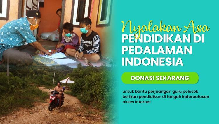 Banner program Nyalakan Asa Pendidikan di Pedalaman Indonesia