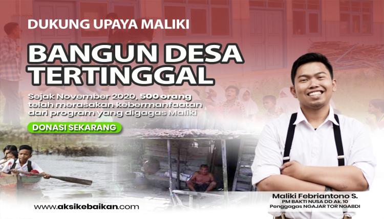 Banner program Dukung Upaya Maliki Bangun Desa Tertinggal