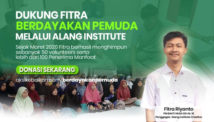 Banner program Dukung Fitra Berdayakan Pemuda Melalui Alang Institute Creative