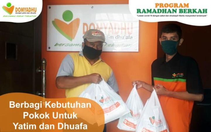 Banner program Sembako untuk yatim dhuafa dan masyarakat terdampak