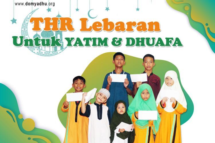 Banner program THR Untuk Yatim dan Dhuafa