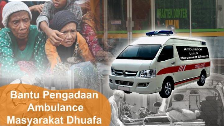 Banner program Bantu Pengadaan Ambulance Masyarakat Dhuafa