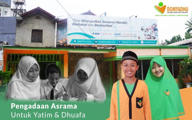 Banner program Panti Asuhan Layak Untuk Yatim dan Dhuafa.