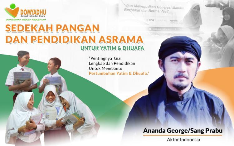 Banner program Bantu Yatim dan Dhuafa Bisa Sekolah