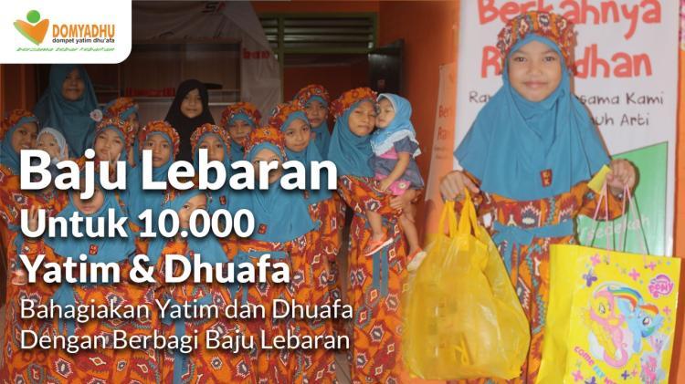 Banner program Patungan Baju Lebaran, Bahagiakan Yatim Dhuafa