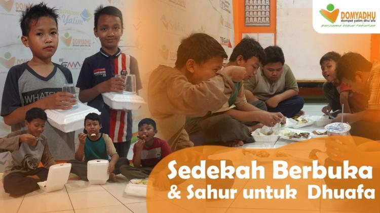 Banner program Sedekah Berbuka dan Sahur untuk Yatim Dhuafa