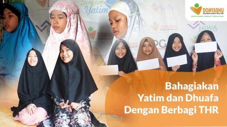 Banner program Kirimkan THR Lebaran Untuk Ribuan Yatim  Dhuafa