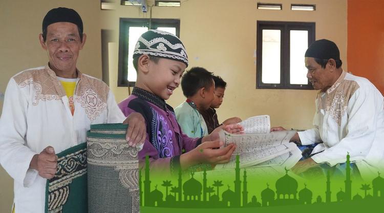 Banner program Sedekah THR Marbot, Guru Ngaji Dan Imam Masjid