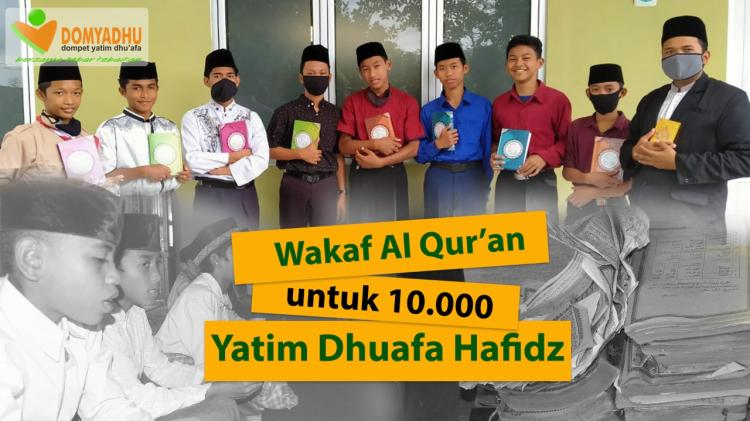 Banner program Wakaf Al Quran untuk 1.000 Yatim dan Dhuafa