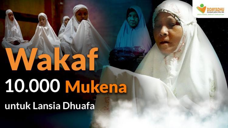 Banner program Wakaf 500 Mukena untuk Ribuan Lansia Dhuafa