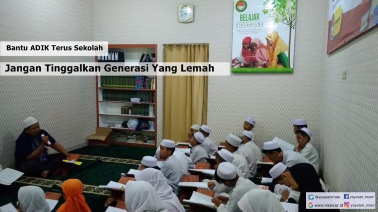 Banner program Bantu Agar Tetap Sekolah
