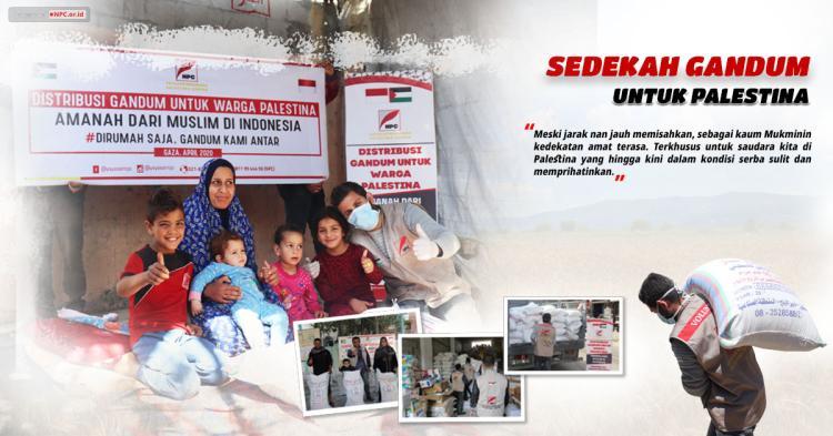 Gambar banner Sedekah Gandum untuk Palestina