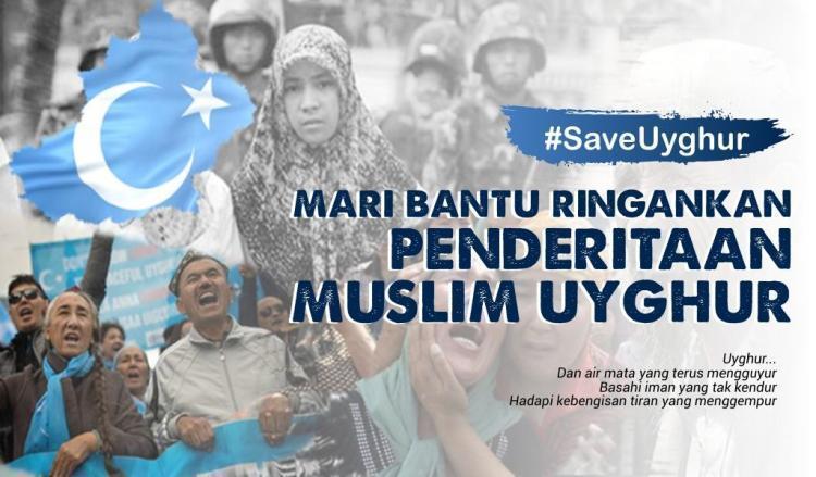 Gambar banner Mari Bantu Ringankan Penderitaan Muslim Uyghur