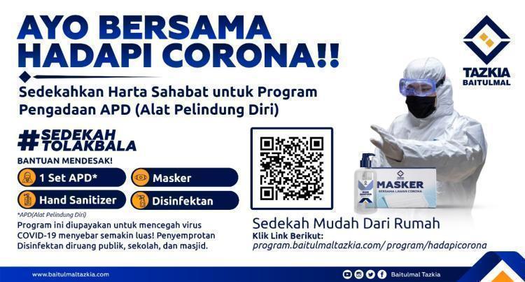 Gambar banner Bersama Hadapi Corona