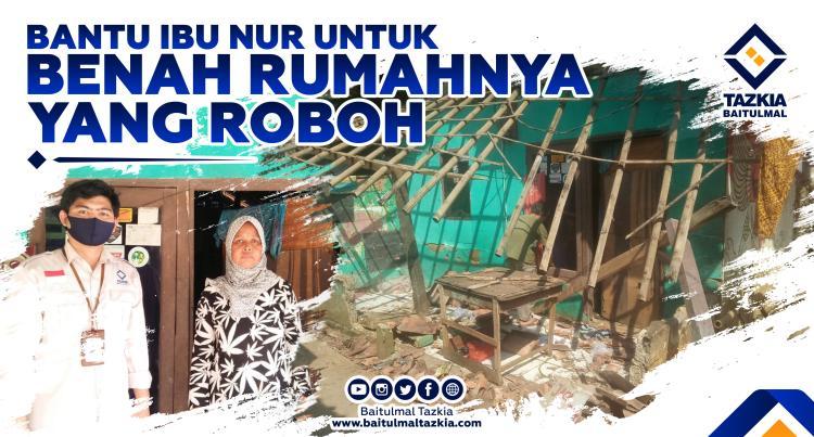 Gambar banner BANTU IBU NUR UNTUK BENAH RUMAHNYA YANG ROBOH