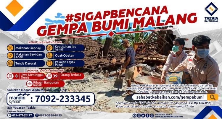 Banner program SIGAPBENCANA Gempa Bumi Malang