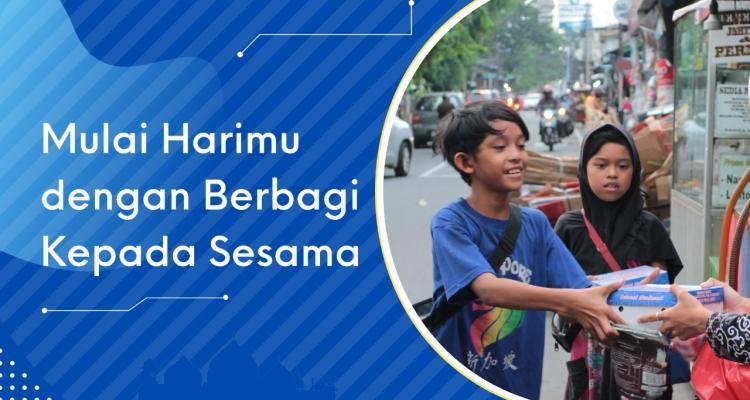 Banner program Sedekah Jumat Untuk Yatim Dan Lansia Dhuafa