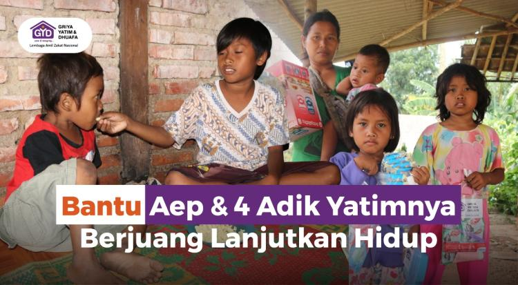Banner program Bantu Yatim Bersaudara Berjuang Lanjutkan Hidup