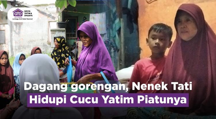 Banner program Bantu Nenek Hidupi Cucu Yatim Piatu