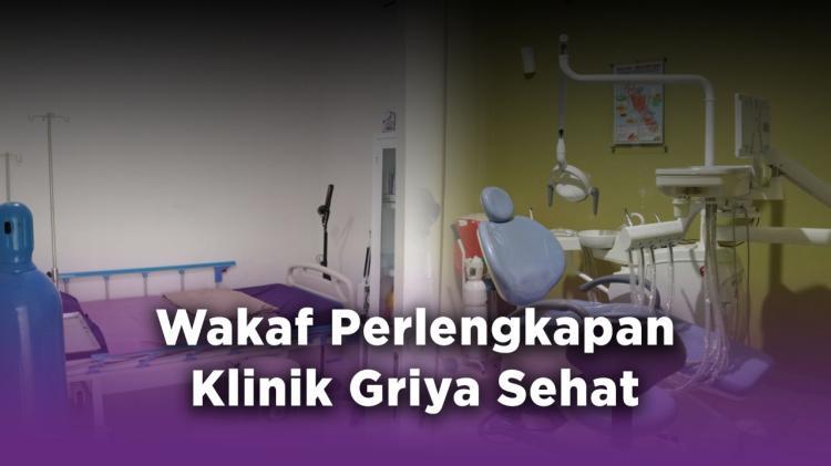 Banner program Wakaf Perlengkapan Klinik Griya Sehat