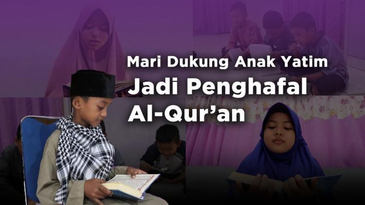 Banner program Bantu Penuhi Pangan Para Penghafal Quran