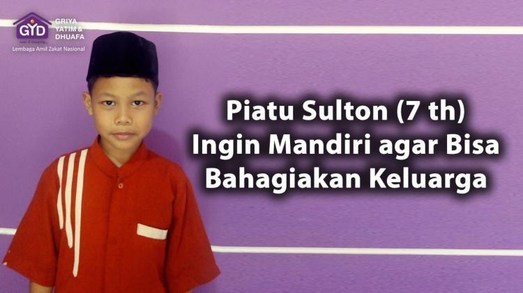 Banner program Bantu Semangat Piatu Sulton Raih Impian