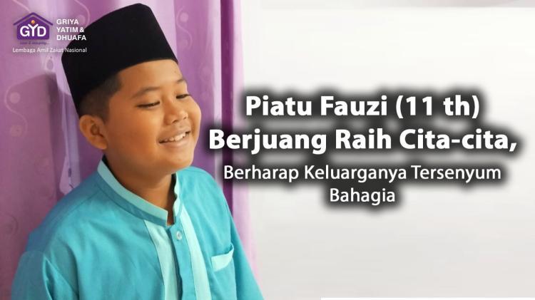 Banner program Raih Pahala, Yuk Bantu Piatu Fauzi