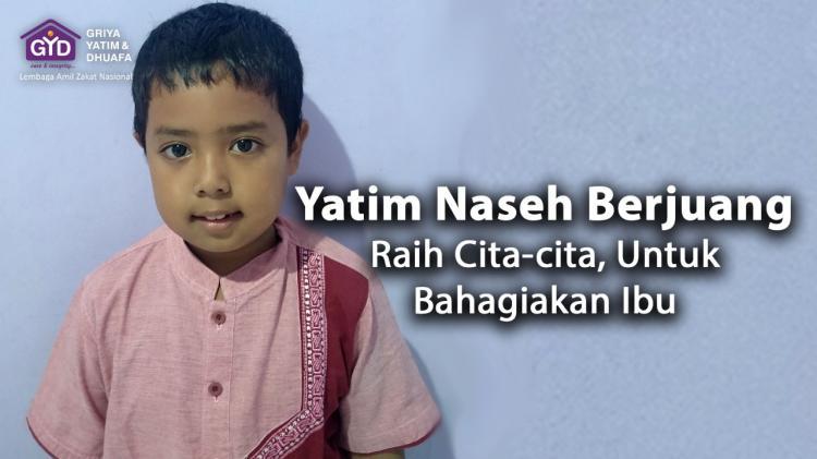 Banner program Yuk Bantu Yatim Naseh Raih Cita-cita