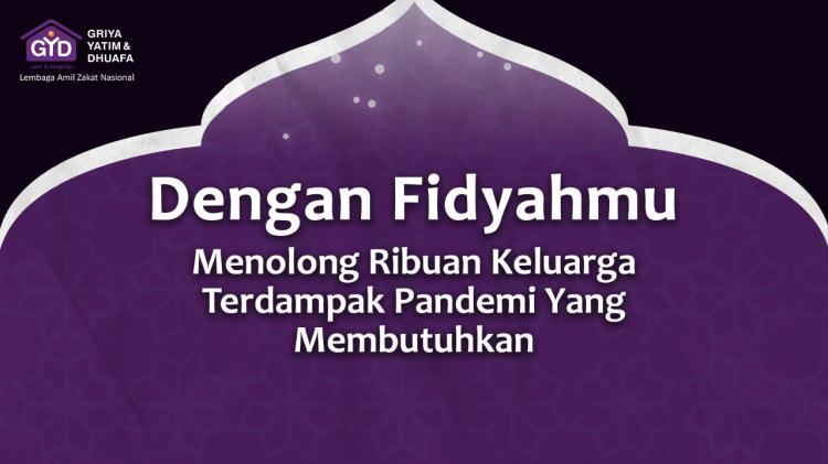 Gambar banner Fidyah Untuk 5.000 Terdampak Pandemi